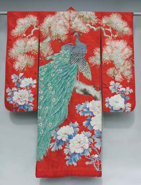 This is a 20th century Uchikake or wedding kimono.