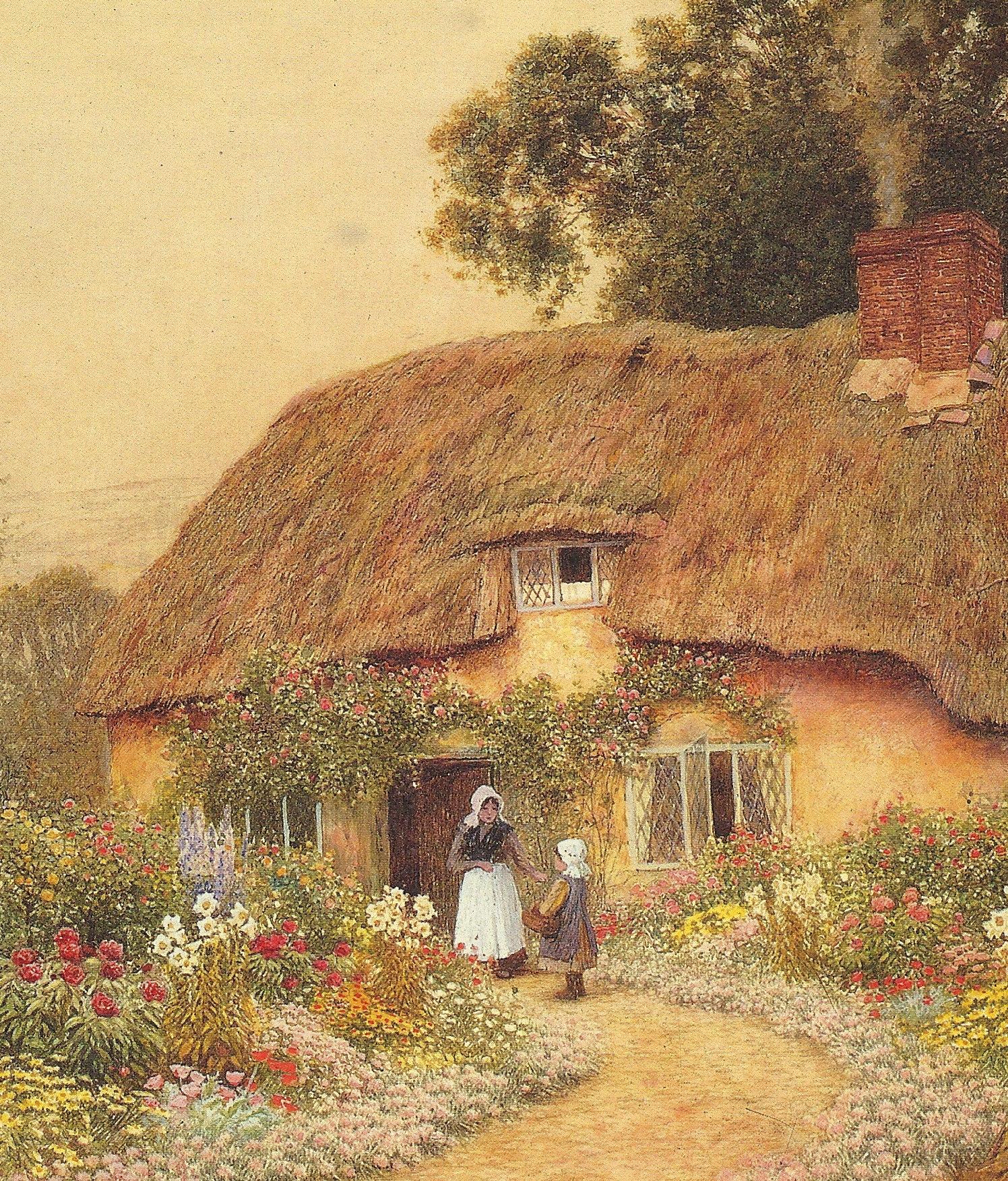 Peonies In The Cottage Garden A Devon By Claude Strachan 1865