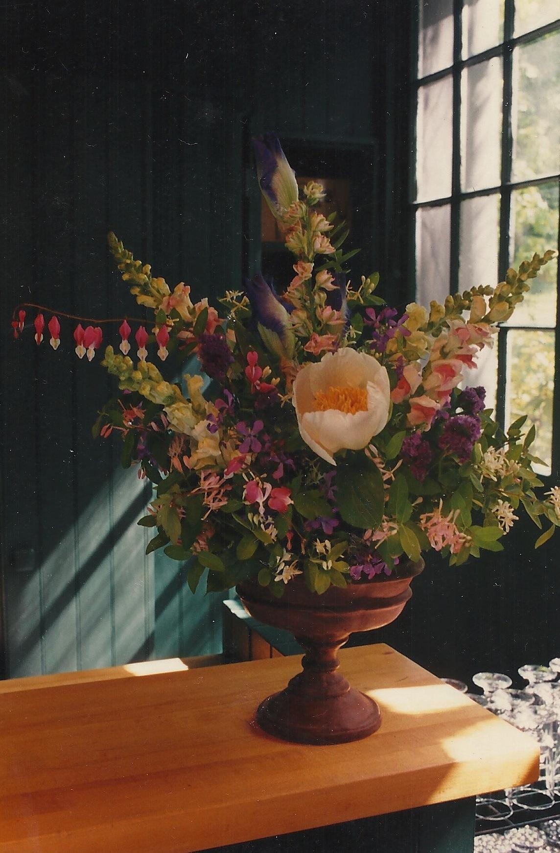 Peonies In Flower Arrangement Crickethillgarden